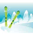 Skis vector image