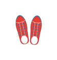 sneakers icon simple flat element from clothes vector image vector image