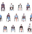 social distancing adults and children sitting vector image vector image