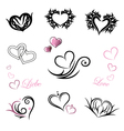 tattoo hearts valentines day vector image vector image