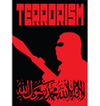 Terrorism poster black and red vector image