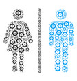 toilet persons composition of gear vector image