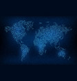 wold map in digital code global earth network vector image