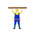 builder man worker character professional vector image