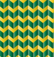 Chevron green and yellow pattern vector image