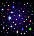light glare space stars of lens vector image
