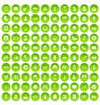 100 europe icons set green circle vector image vector image