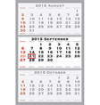 2015 september with red dating mark vector image