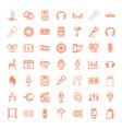 49 studio icons vector image vector image