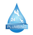 a drop of water for plumbing repair vector image vector image