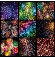 abstract square pixel mosaic vector image vector image