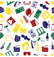 art icons colorful pattern seamless eps10 vector image