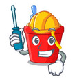 automotive beach bucket in string shape mascot