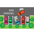 Bad Parking Car Parked in Inappropriate Way vector image vector image