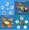 bakery bread design concept vector image vector image