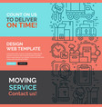 banners template with line icons vector image vector image