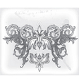 baroque floral vector image vector image