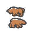 bear and bull financial exchange cartoon vector image