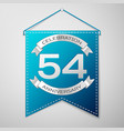blue pennant with inscription fifty four years vector image vector image