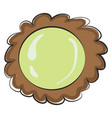 brown and yellow flower cookie on white background vector image vector image