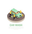 carwash isometric concept vector image vector image