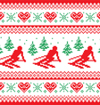 Christmas winter red and green seamless pattern vector image vector image