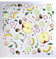 Colorful pattern raw food background