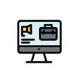computer bag speaker job flat color icon icon vector image