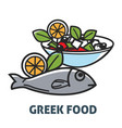 delicious natural greek food promotional poster vector image vector image