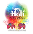 design for indian festival of colours vector image vector image