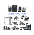 digital black construction building vector image
