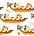 dragons boats seamless pattern vector image