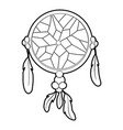 dreamcatcher icon outline style vector image vector image