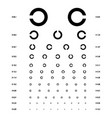 eye test chart vector image