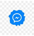 facebook messenger social media icon design vector image