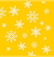 falling snowflakes winter background merry vector image