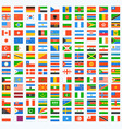 flag world icons vector image vector image