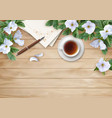 flat lay composition vector image vector image