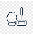 floor mop concept linear icon isolated on vector image