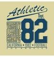 Football t-shirt fashion design graphics - vector image vector image