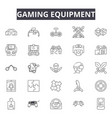 gaming equipment line icons signs set vector image vector image