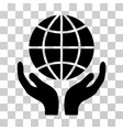 global hands icon vector image vector image