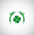 green world sign vector image