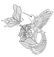 Hand drawn zentangle tribal flying butterfly vector image