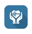 Heart care icon flat design