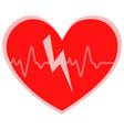 heart cheering cardiogram vector image