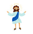 jesus christ son of god with halo vector image