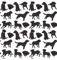 labrador seamless pattern vector image vector image