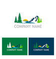 lake mountain nature logo vector image
