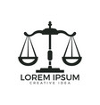 law and attorney logo design vector image vector image